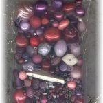 Red purple beads